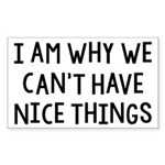 I Am Why We Can't Have Nice Things Sticker (Rectan