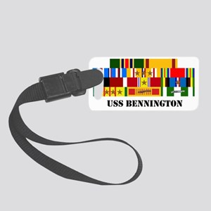 uss-bennington-group-text Small Luggage Tag
