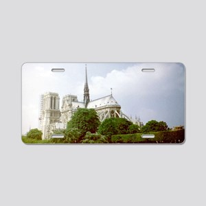 Notre-Dame Cathedral Aluminum License Plate
