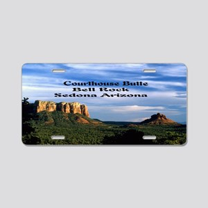 Courthouse Butte and Bell R Aluminum License Plate
