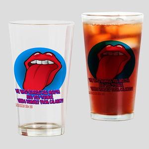 tongue_tee Drinking Glass
