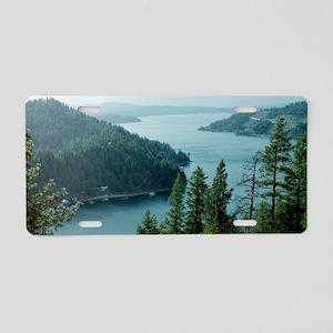 Coeur dAlene Lake Aluminum License Plate