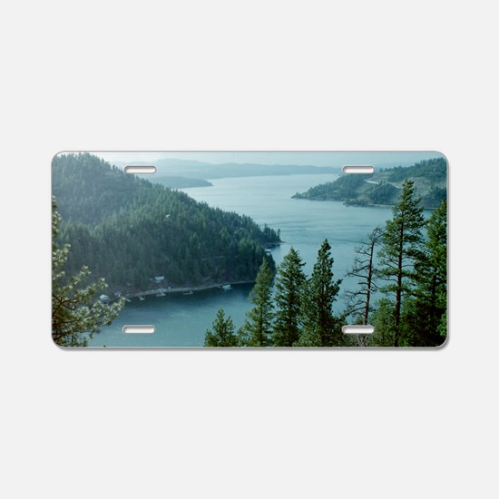 Coeur dAlene Lake Aluminum License Plate