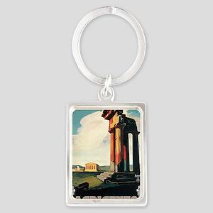 Nizzoli Agrigento Sicily Italy Portrait Keychain