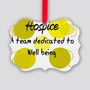 Hospice Team Dedicated to Wellbei Picture Ornament