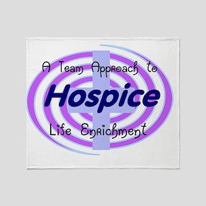 Hospice ENRICHMENT BLUE Throw Blanket