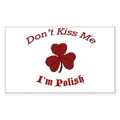 St. Patrick's Day For Us Poli Sticker (Rectangular