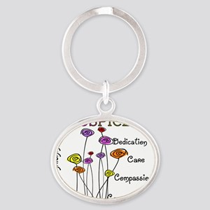Hospice Oval Keychain