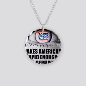 Fox News Makes American Stup Necklace Circle Charm