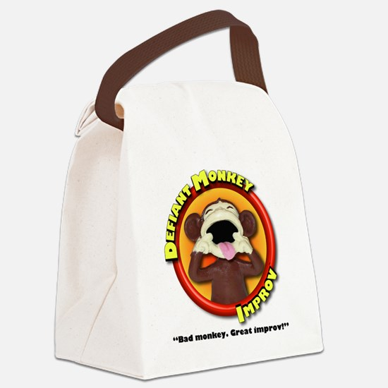 Defiant Monkey White Shirt Canvas Lunch Bag