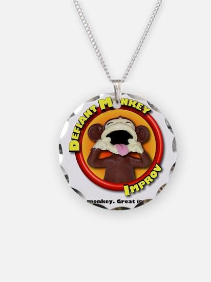Defiant Monkey White Shirt Necklace