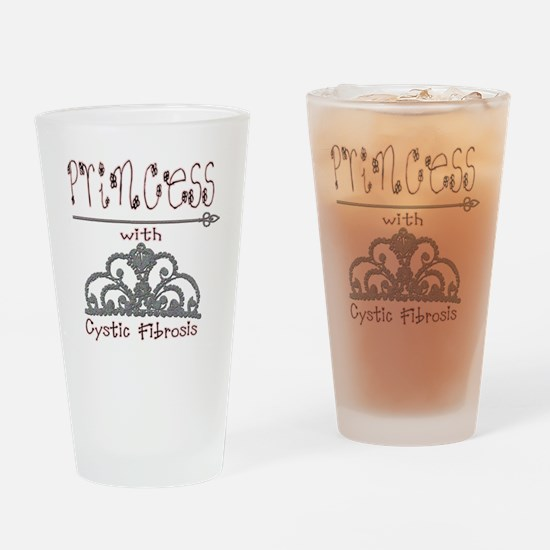 Cystic Fibrosis Princess Drinking Glass