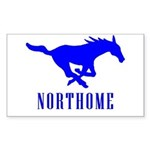 Northome Mustangs Rectangle Sticker