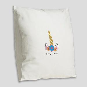 Unicorn 1 Burlap Throw Pillow