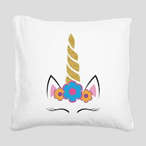 Unicorn 1 Square Canvas Pillow