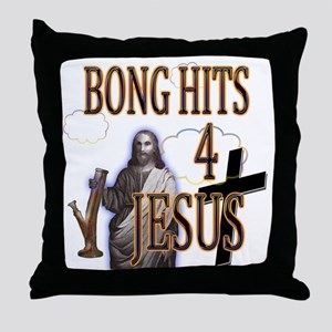 bonghits4jesusshirt10c copy Throw Pillow