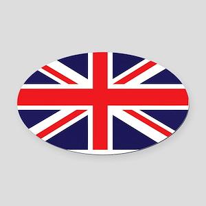 Union Jack Oval Car Magnet
