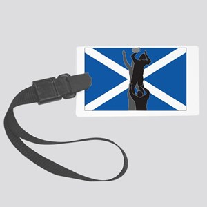 rugby lineout flag scotland Large Luggage Tag