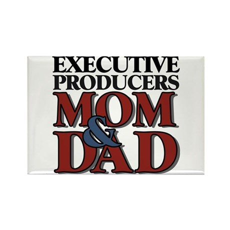 Executive Producers New Mom & Dad Rectangle Magnet