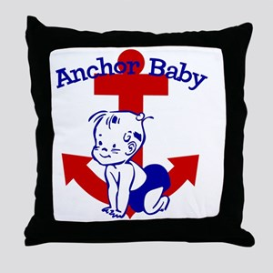 Anchor Baby Throw Pillow