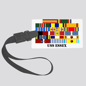 uss-essex-group-text Large Luggage Tag