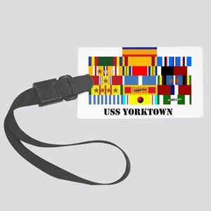 uss-yorktown2-group-text Large Luggage Tag