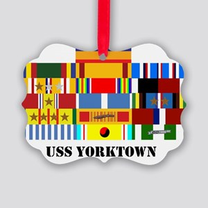 uss-yorktown2-group-text Picture Ornament