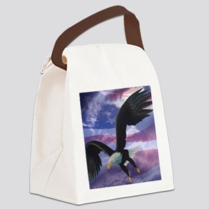 freedom eagle square 2 Canvas Lunch Bag