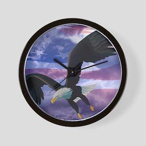 freedom eagle square 2 Wall Clock