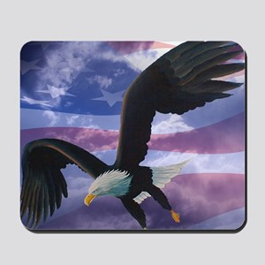 freedom eagle square 2 Mousepad