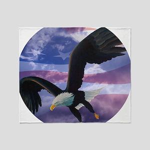 freedom eagle round 2 Throw Blanket