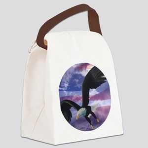 freedom eagle round 2 Canvas Lunch Bag