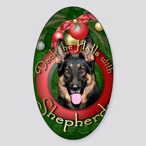 DeckHalls_Shepherds_Kuno Sticker (Oval)