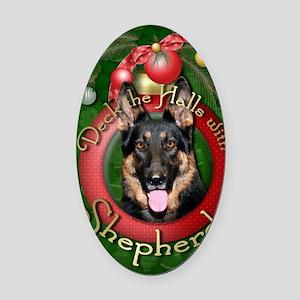 DeckHalls_Shepherds_Kuno Oval Car Magnet