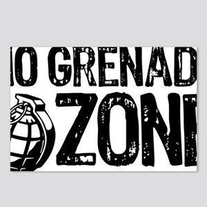 No Grenades Black Postcards (Package of 8)