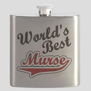 Worlds Best Murse Flask