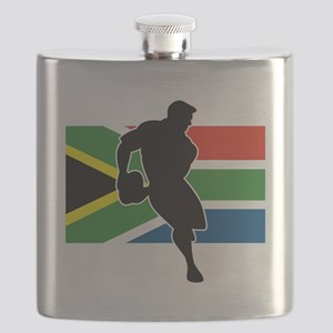 rugby player flag south africa Flask