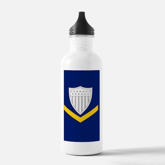 USCG-Rank-PO3-Mousepad Water Bottle