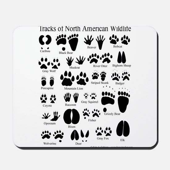 Animal Tracks Guide Mousepad