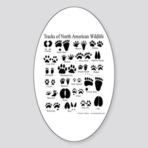 Animal Tracks Guide Oval Sticker