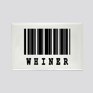 Whiner Barcode Design Rectangle Magnet