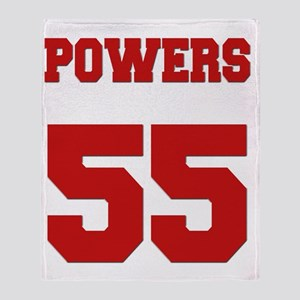 powers-back Throw Blanket
