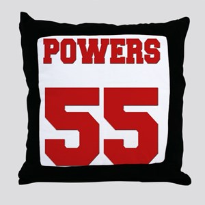 powers-back Throw Pillow