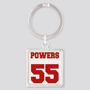 powers-back Square Keychain