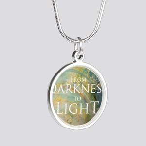 PSTR-from darkness to light Silver Round Necklace
