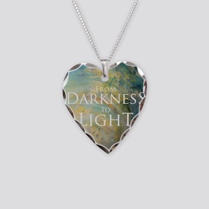 PSTR-from darkness to light Necklace Heart Charm
