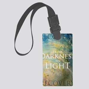 PSTR-from darkness to light Large Luggage Tag
