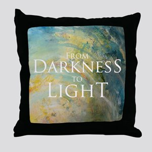 PSTR-from darkness to light Throw Pillow