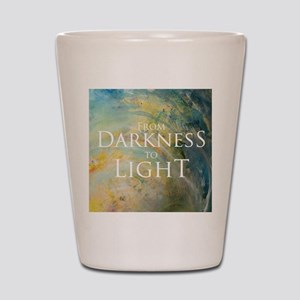PSTR-from darkness to light Shot Glass