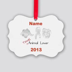 Towel Animal Lover (Personalized) Ornament